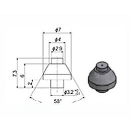 Сопло 2,9 мм сапфировое (тип 94 S1)
