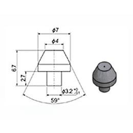 Сопло 4 мм сапфировое (тип 94)